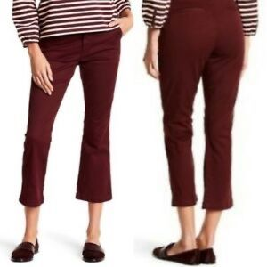 J.Crew Sammie Chino Cropped Pants Maroon
